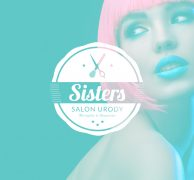 Sisters logo branding hair hairstylist premium barber logo poland