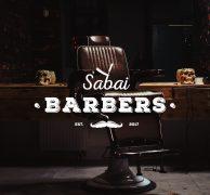 Sabai barbers London uk logo design branding barber hairstylist